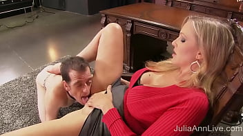 Cock Teasing Mistress Julia Ann makes her boytoy smell & taste her sweet moist cunt, masturbating & cumming with his face but denying him his release! Full Video & Julia Ann Live @ JuliaAnnLive.com!