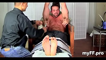 Homemade kink with gay chaps working the feet in fetish xxx