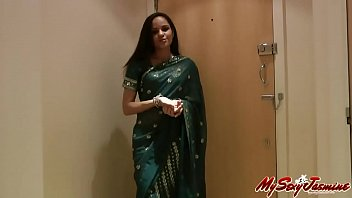 indian gujrati college girl jasmine mathur in sexy saree in hotel for porn