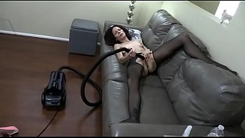 Woman and her vacuum cleaner