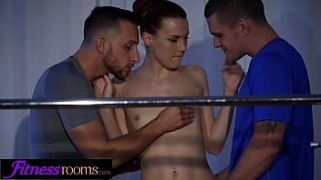 Fitness Rooms 3some blowjob and orgasm with ballet teacher after class