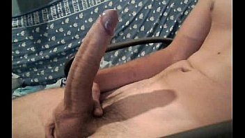 Guy Yanking Big Erect Dick On Cam