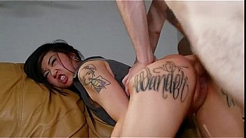 Hot tattooed Asian London Lanchester fucked and cummed
