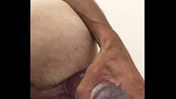 Dildo anal 45 cm and bottle insertion.MOV