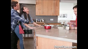 Dared Mom Melissa Lynn Fucked by Her Son in The Kitchen