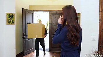 Aidra Fox is cock hungry but her man can't please her anymore. The horny brunette sees a chance to be fucked by a mover guy and does not mind getting caught while her pussy gets wrecked!