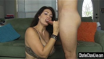 Watch Big tit MILF Charlee Chase stuffs a cock_down her throat and gets her face covered in cum! Exclusive from CharleeChaseLive.com preview