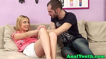Adorable eurobabe assfucked after foreplay
