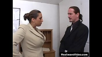 MILTF #42 - Allisandra - Big titted MILF spreads her thighs to be ready for a rough fuck in office