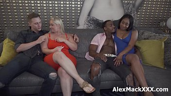 Black and White couples switched partners and made a nasty foursome