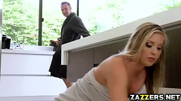 Samantha Saint got her pussy fuck doggy from behind