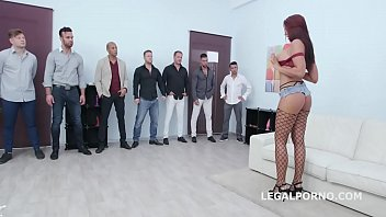 7on1 Creampie and Swallow Gangbang with Jolee Love Balls Deep Anal, Gapes, DAP, Squirting, Creampie, Swallow GIO1217
