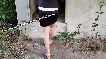 Thai horny accountant girl squirting at abandoned house