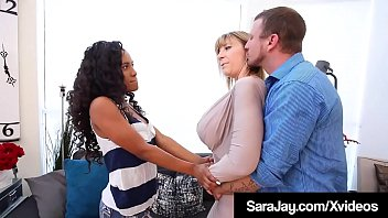 World Famous Fuck Queen, Sara Jay & a rock hard Cock, share some pussy as they both fuck the living daylights out of hot Black Babysitter Demi Sutra! Full Video & Sara Live @ SaraJay.com!