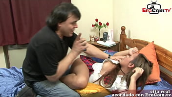 spanish amateur teen newbie at her first porn