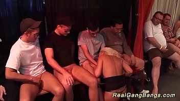 Watch her first extreme bukkake party orgy preview