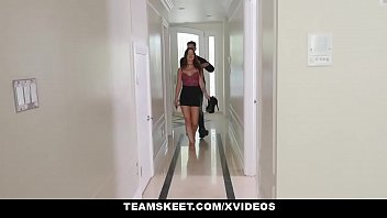 Teen Pies - Sexy Brunette Lacey Channing Stuffed With Jizz