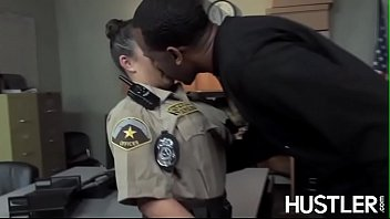 Busty officer banged before BBC facial
