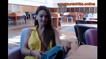 Busty Exhibitionist amateur in the library 12-amateurexhibs.online
