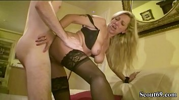 Mature Help Huge Cock Virgin Son of Neighbour with his first Fuck