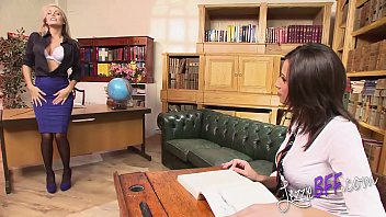 Lezzie BFF - Big Tits Student Fucks Hot Lesbo Teacher with a Strap-On