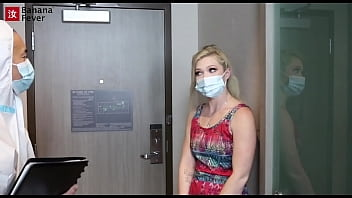 Blonde Slut Fucks The Doctor For The COVID Cure - BananaFever