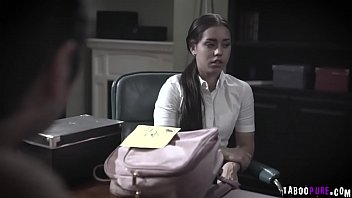 Tommy Pistol is so horny as he pull down the underwear of Alina Lopez and bend as over the guidance office desk.
