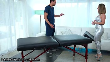 She Gets Anally Fucked While Having A Bolster Massage