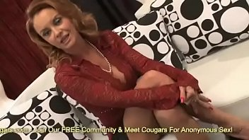 Sexy MILF Janet Mason Has Her Face Covered With Jizz From A Much Younger Man