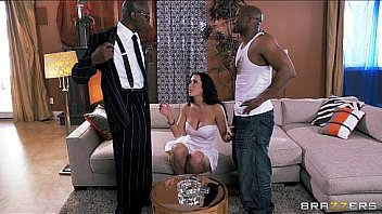 Juicy brunette pornstar Jayden Jaymes daydreams about a gangbang