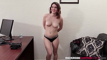 Young babe ass fucked on casting couch
