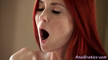 Classy redhead assfucked passionately