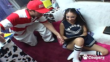 Sexy student Alexis Love giving  head and riding on shaft Thumbnail