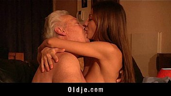 Old Your Porn Teen enjoys anal sex with grandpa and swallows his juicy cock