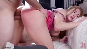 Stepdad Tommy Pistol fucking squirting busty stepdaughter Skylar Snow in doggy position then fucks her in threesome with wife Silvia Saige