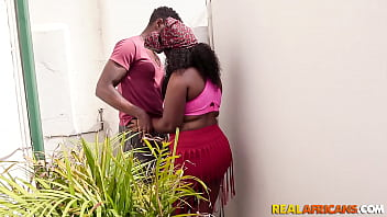 Real African Bbw Taking A Black Cock in Tight Ass