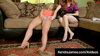 Big Boobed Femdom, Kendra James, has a lesbian love pet, Kate Kennedy, getting her fill of pussy & tongue whenever she wants & today she wants! Hot! Full Video & Kendra Live @ KendraJames.com