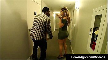 black knight rome major helps his new neighbor hispanic hottie miss raquel who thanks him with a front door to her hot latina pussy for bang until he busts nut on big butt