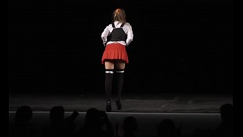bible black cosplay upskirt