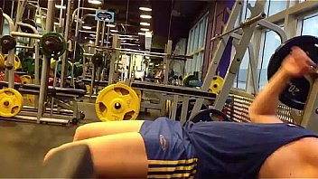 Bulge cock in the gym