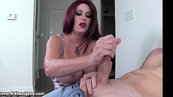 Hot mom catches son jerking off