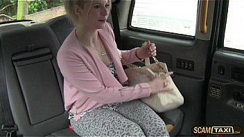 Skanky blonde Paige appreciates the free sex in the cab