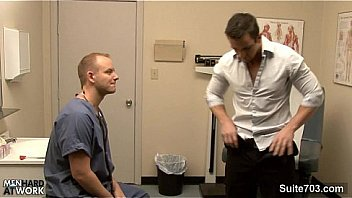 Hot gay gets ass inspected by doctor