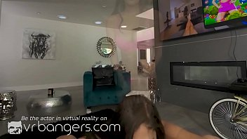 Watch VR BANGERS Fuck date with naughty brunette teen girl from_the game preview