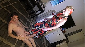 Ballbusting: Goddess Lilith destroys the balls of Andrea Diprè Thumbnail