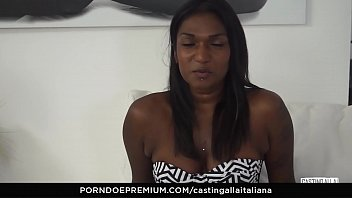 CASTING ALLA ITALIANA - Stunning Indian chick threeway porn audition Thumbnail