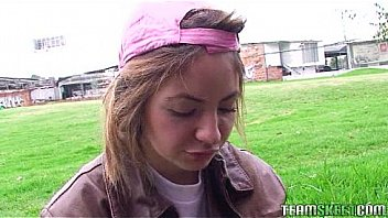 blonde latina fucked hard and gets facialized