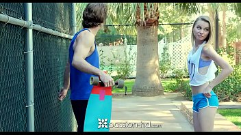 Watch PASSION-HD Teen skater girl Catarina Petrov fucked on white bench preview