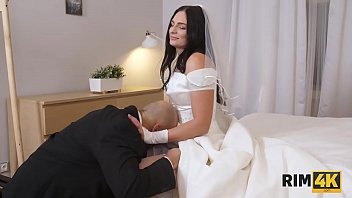 RIM4K. Wedding is a special day so why girl gives her man rimjob