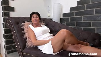 Mature Cougar Plays with her Toy Boy